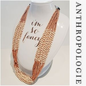NWOT ANTHROPOLOGIE WOODEN BEAD A MALE NECKLACE
